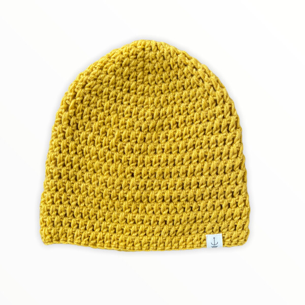 Amanzi Clothing Lite Turn Up Handmade Hat Mustard
