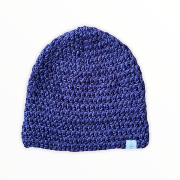 Amanzi Clothing Lite Turn Up Handmade Hat Aubergine