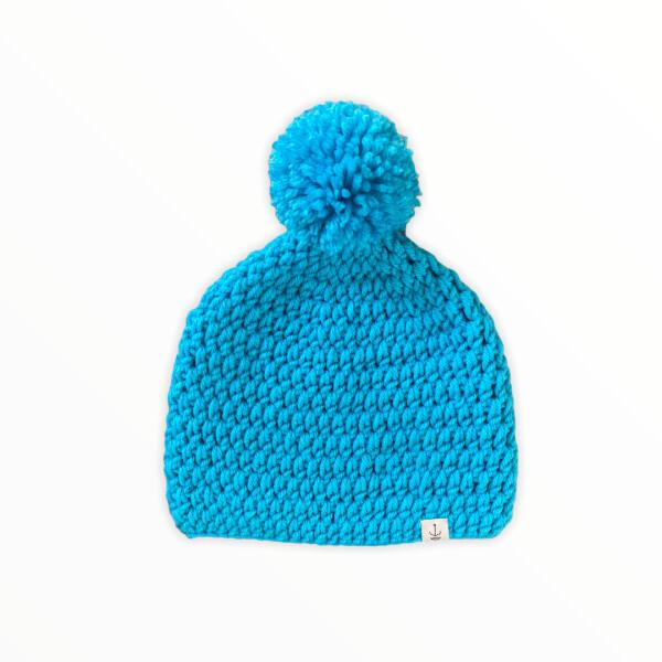 Amanzi Clothing The bobble hat Aqua