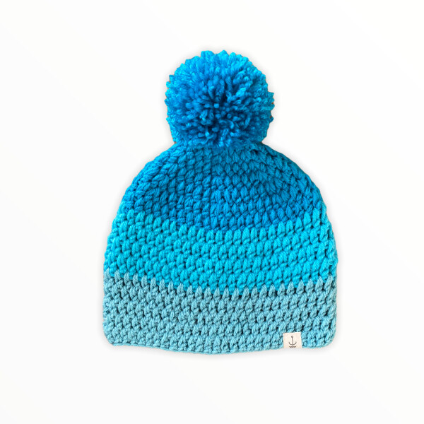 Amanzi Clothing The bobble hat TB and Ocean blue